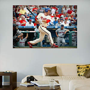 Chase Utley Mural Fathead Wall Decal